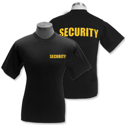 Toronto security t shirts for Custom t shirts mississauga