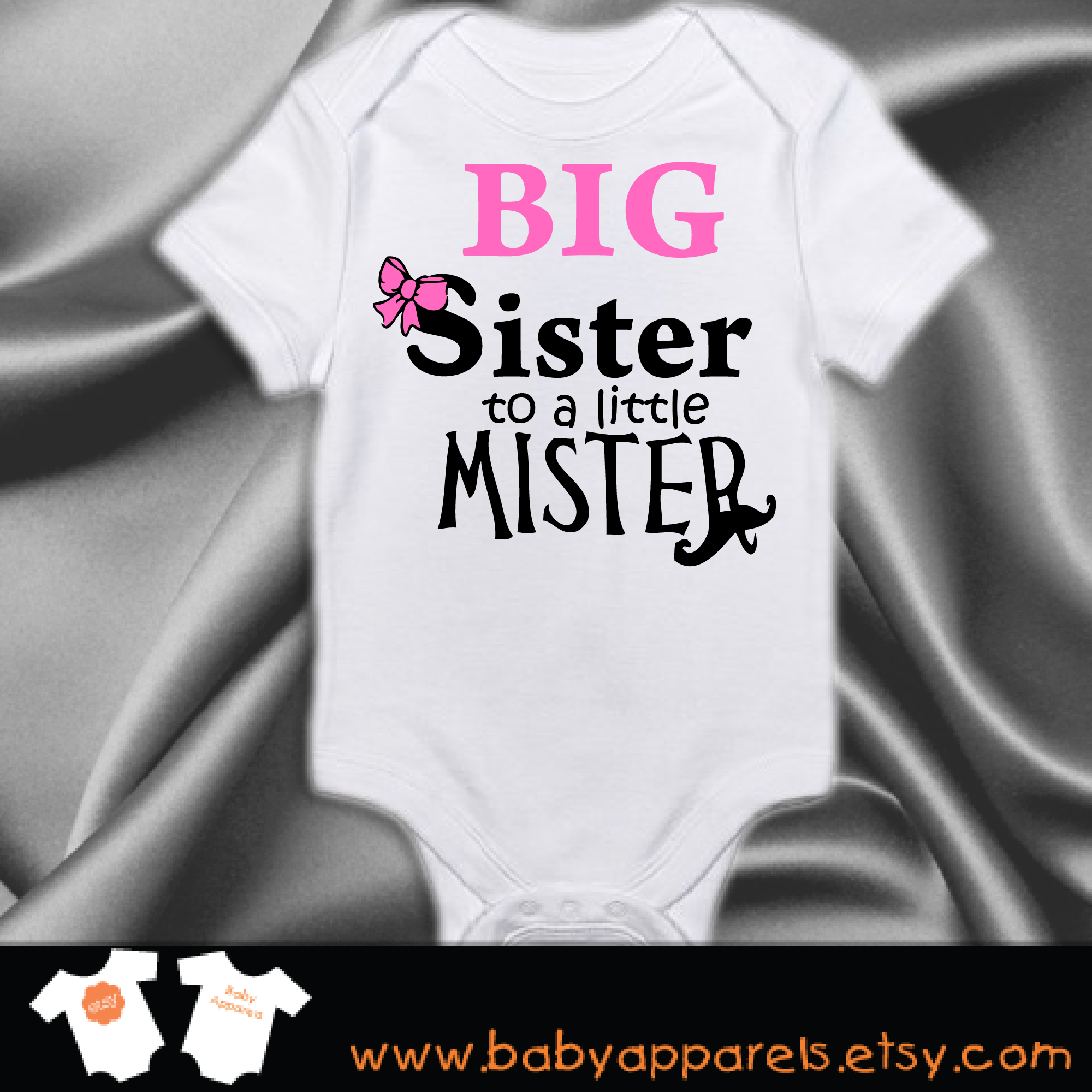 97335c9a6 Big Sister to a little Mister Baby Bodysuit