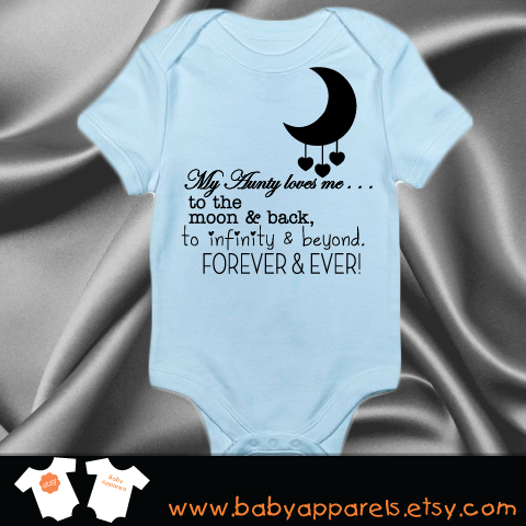 48f8177b2 My Aunt Loves me to the moon and back, forever and ever baby Bodysuit