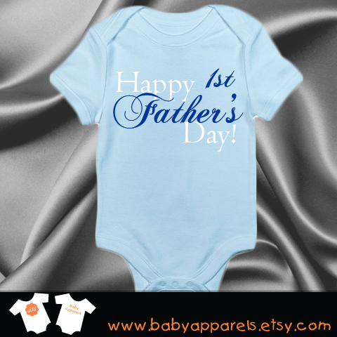 14469aba8 Happy 1st Fathers Day Baby Clothing