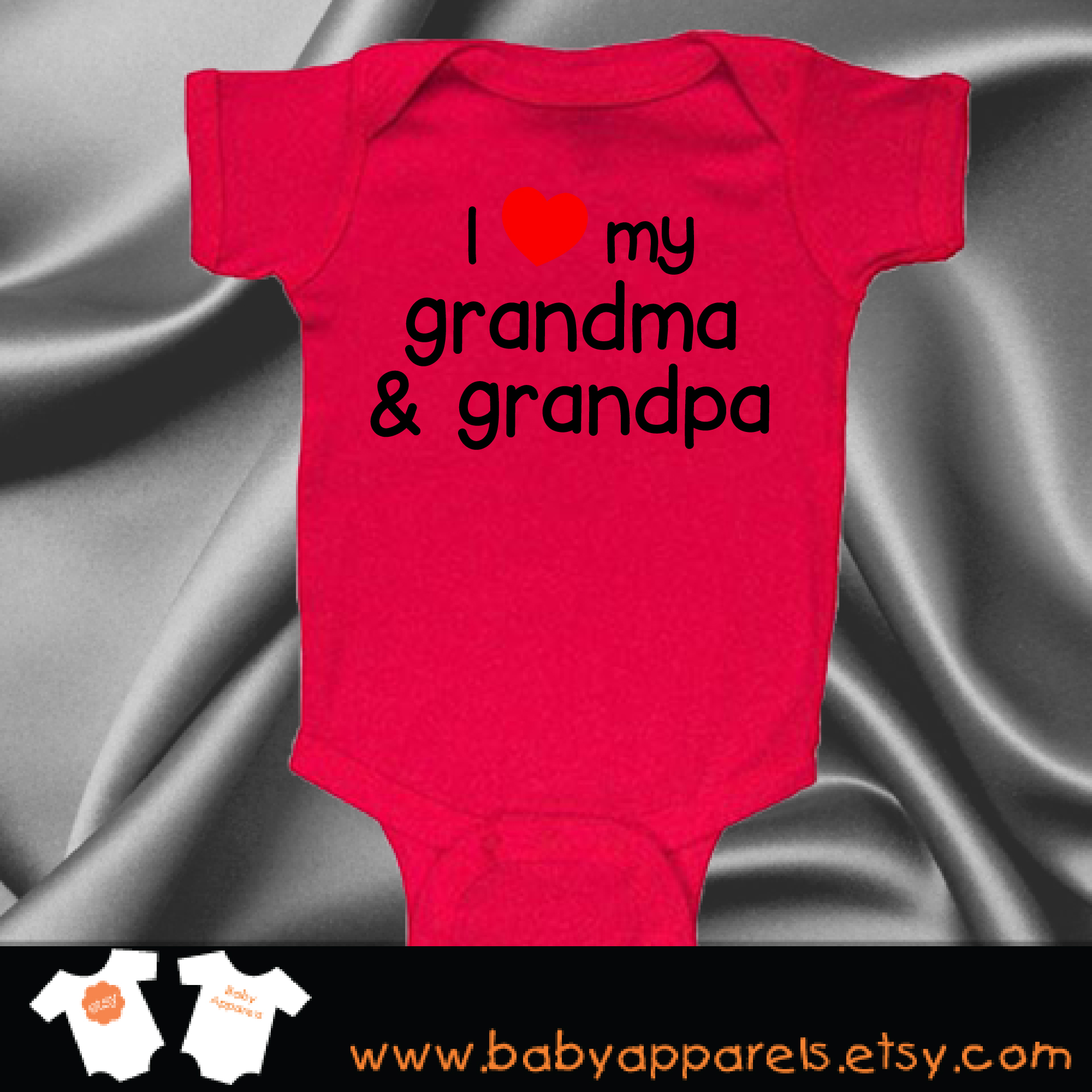 I Love my grandma and Grandpa Baby Clothing