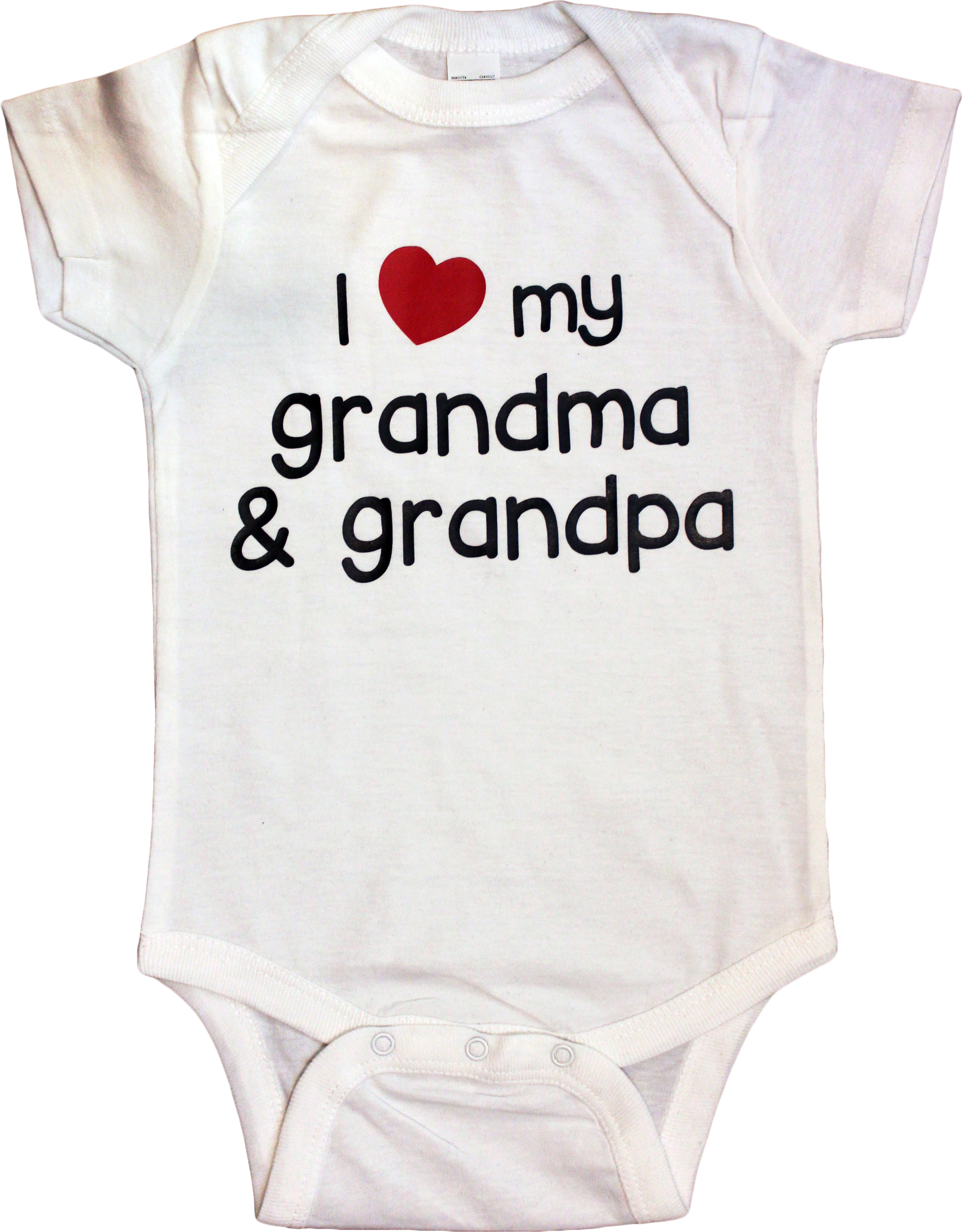 I love grandma and grandpa baby clothes
