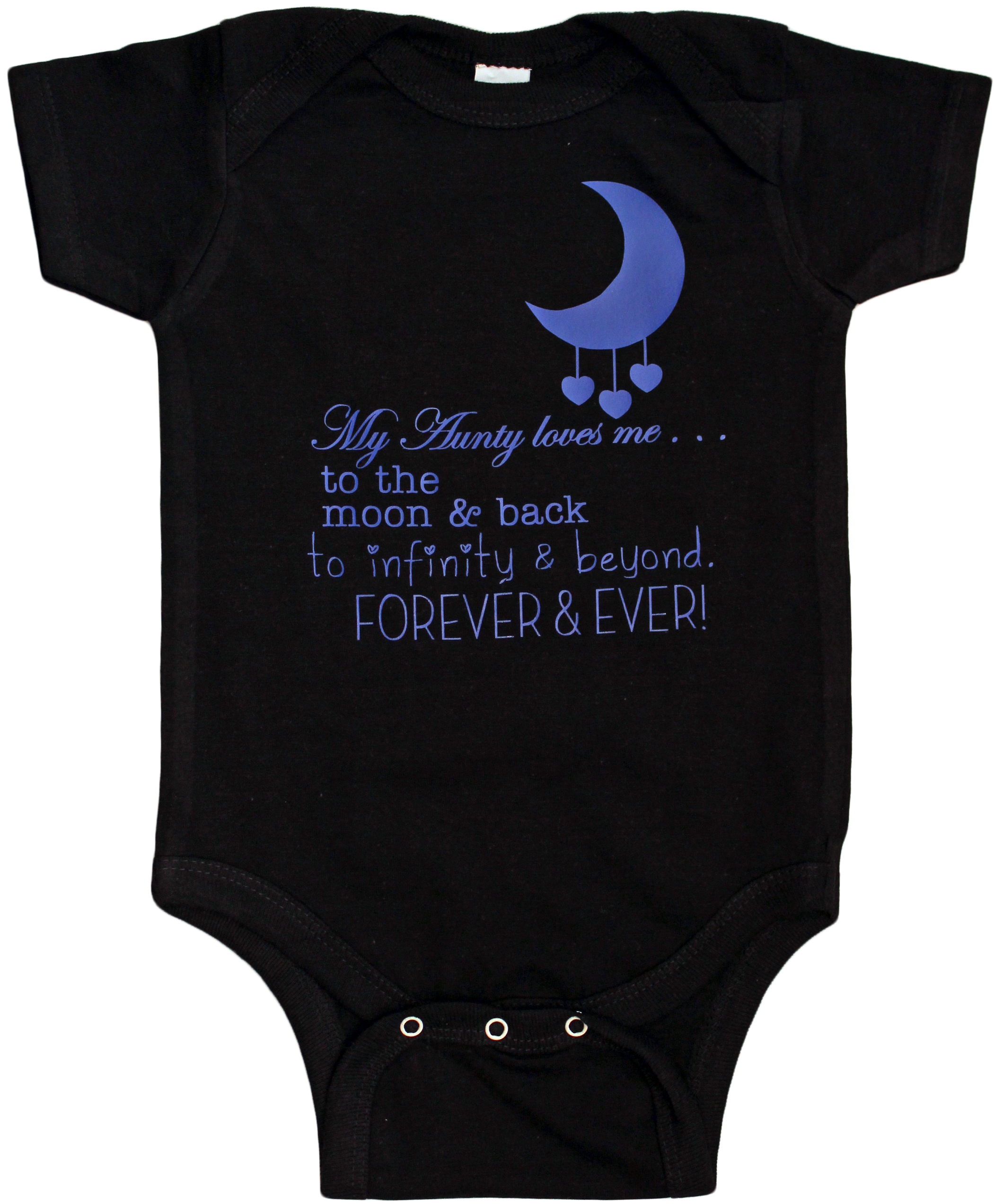 Aunty Loves You To The Moon And Back Forever And Ever Cute Baby Clothes Aunt Baby Clothing Baby Clothing Baby Gift Funny Baby Tee Baby Clothing