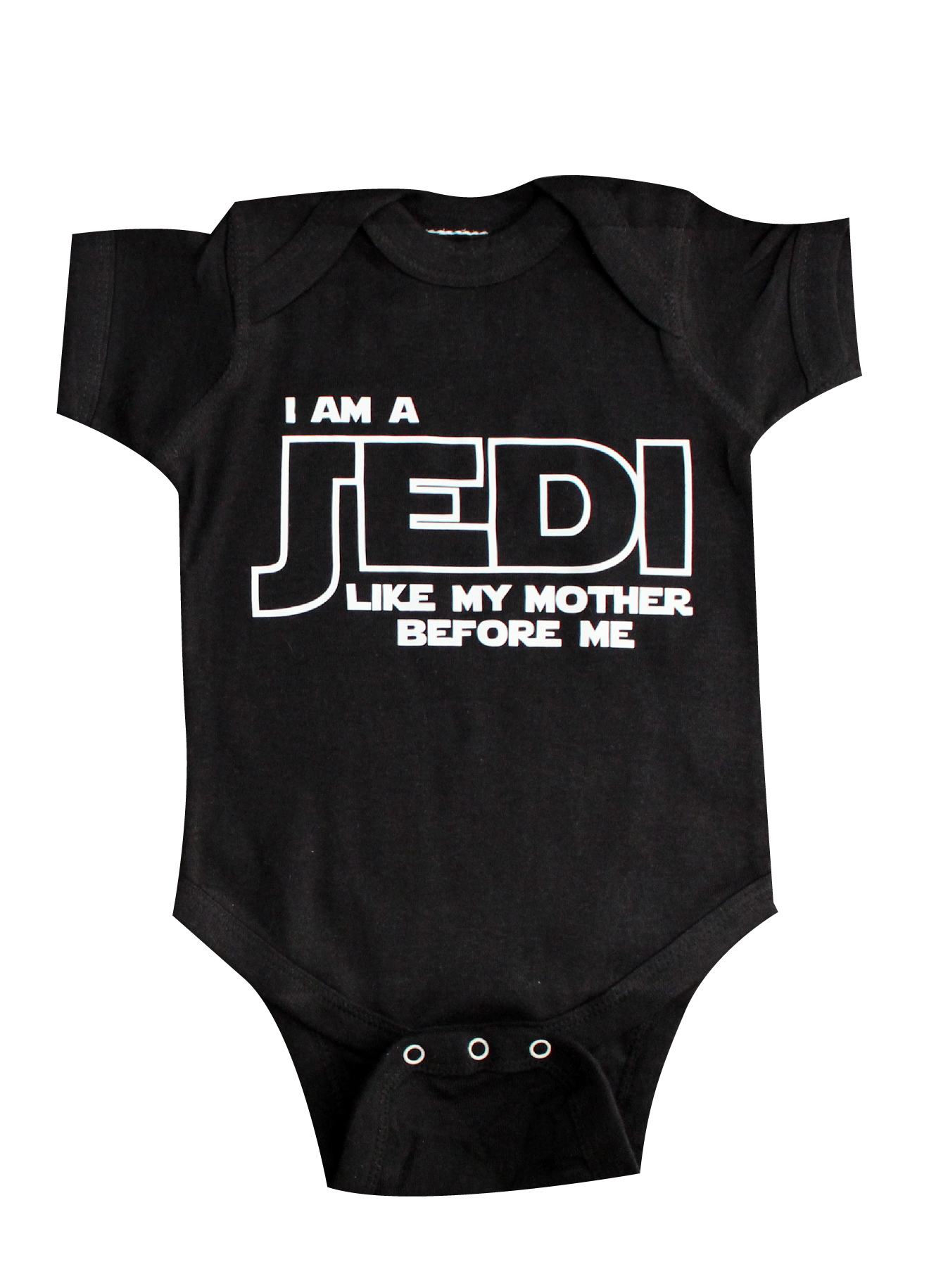 a654dd1cb I am a Jedi just like my MOTHER, Baby Clothing, Funny Baby Clothing ...